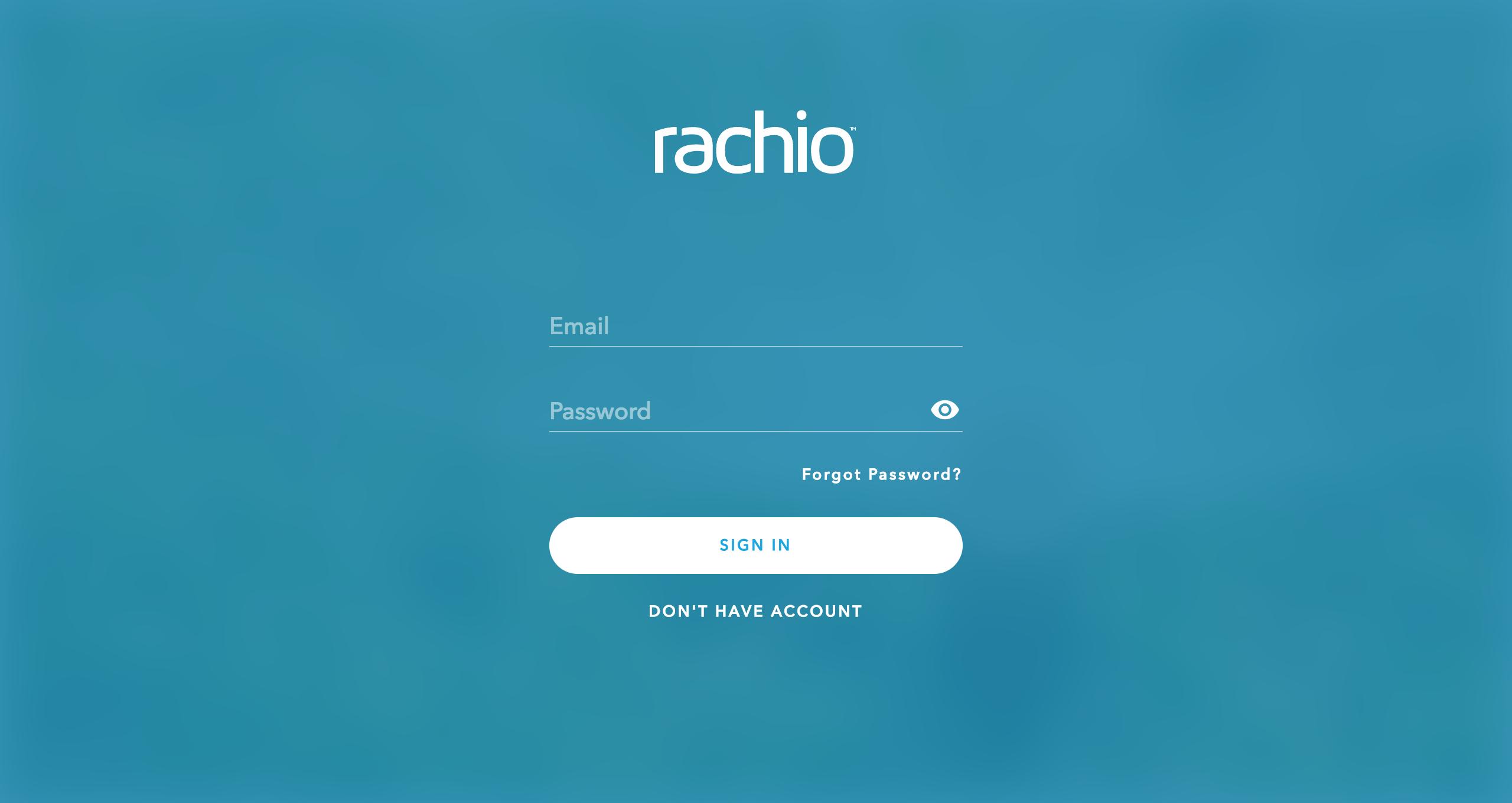 Rachio app web login
