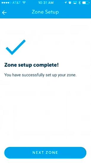 Zone Setup Complete