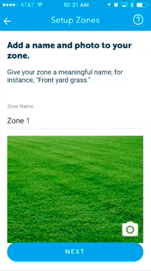 Zone Setup, Configure name