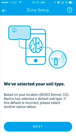 Zone Setup, soil type