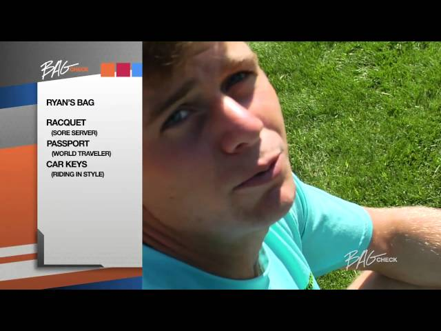 Ryan Harrison Bag Check