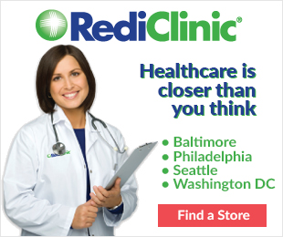 Rediclinc. Healthcare is closer than you think. Baltimore, Philadelphia, Seattle, Washington D.C.