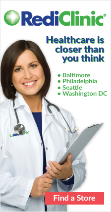 RediClinic. Healthcare is closer than you think. Baltimore, Philadelphia, Seattle, Washington D.C.