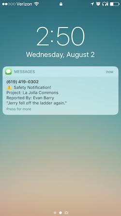 Safety Notification