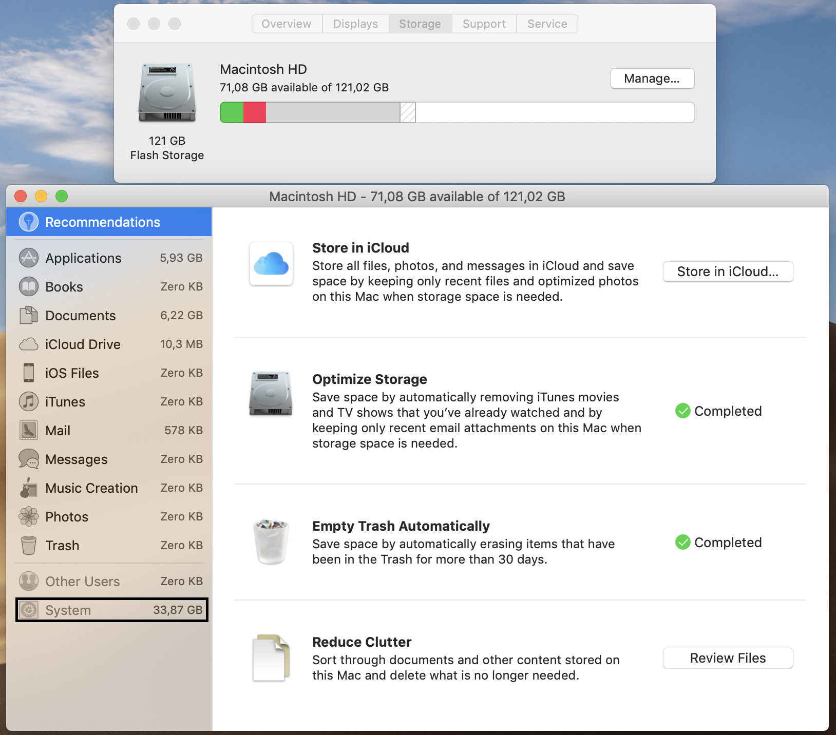 lots of disk space