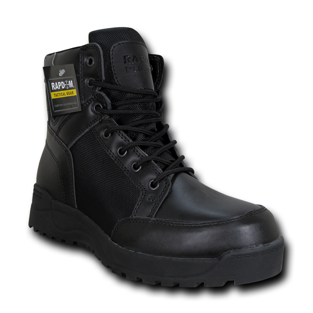 Black 6//Size 8 RAPDOM Tactical Crusher Boots