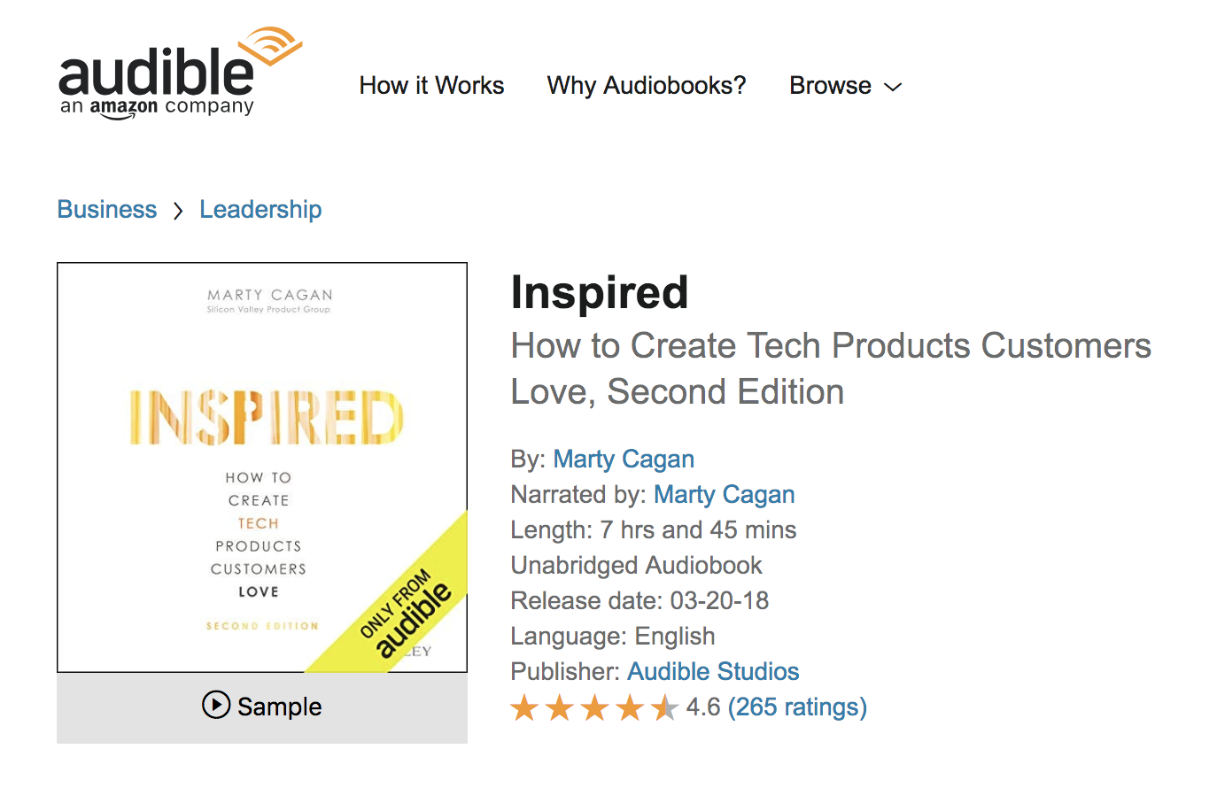 Inspired on Audible