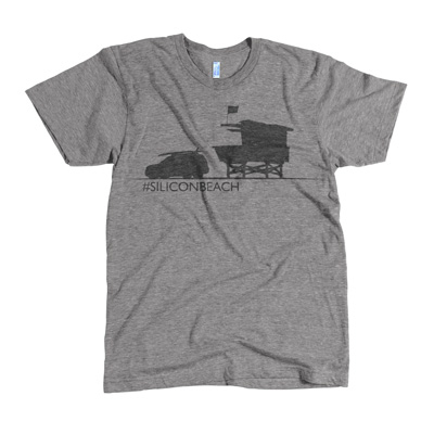 Zing Fizz Silicon Beach Guard Shack Tshirt Grey