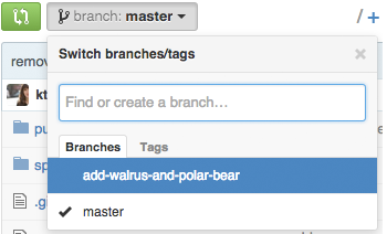 branch dropdown