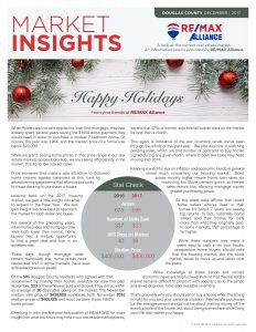 December 2017 Douglas County and South Metro Denver, Colorado Insights