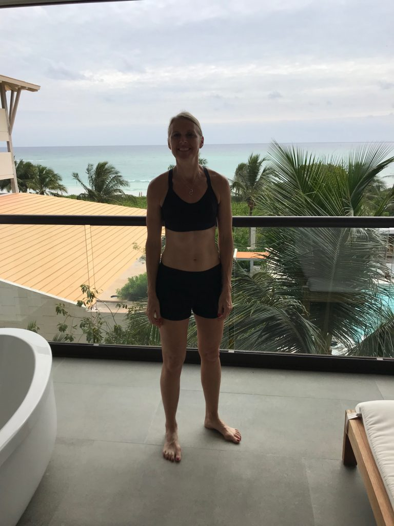 Keeping up with training while on vacation in Mexico