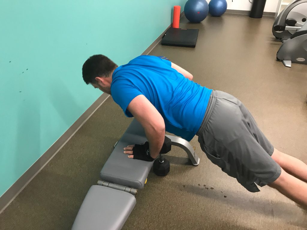 Modified Push-up on bench