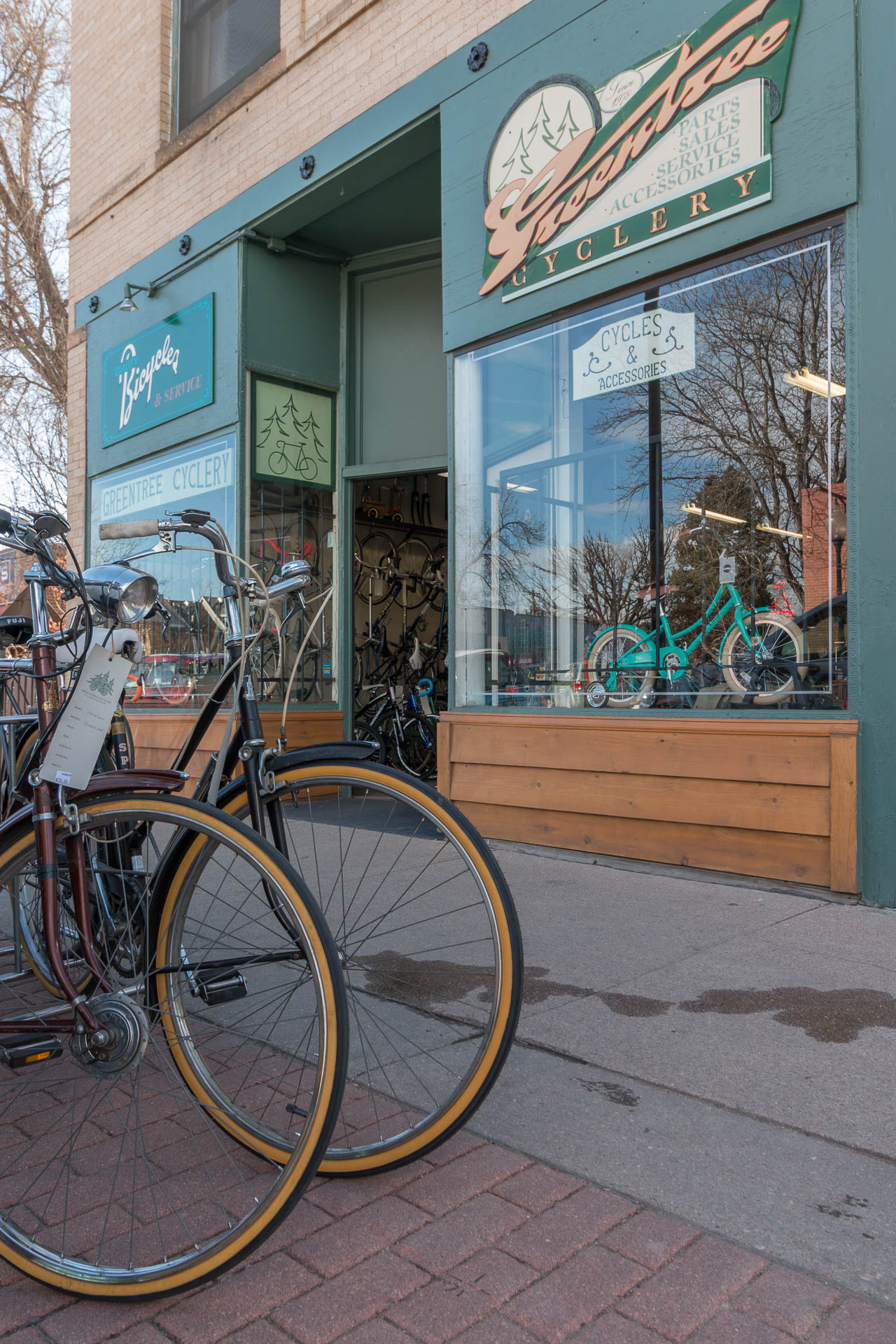 The GreenTree Cyclery on South Pearl Street in Denver.
