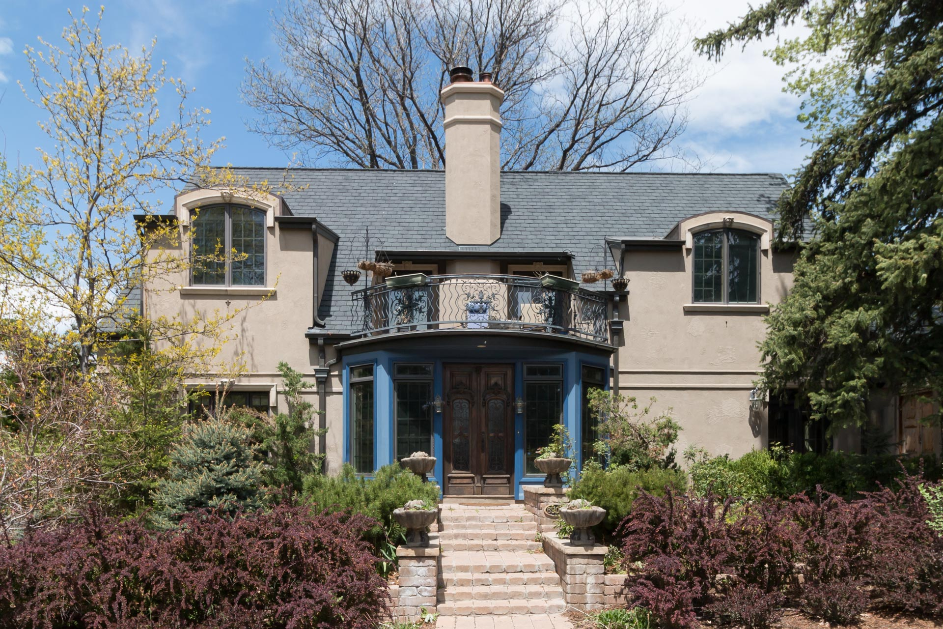 One of many different architectural styles in the Montclair neighborhood of Denver.