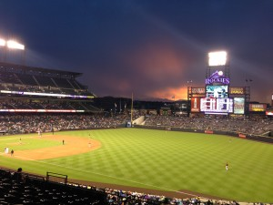 Grab a hot dog and a cold brew at Coors Field and cheer on the home team, the Colorado Rockies.