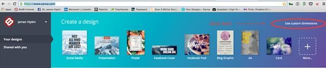 create a website image size