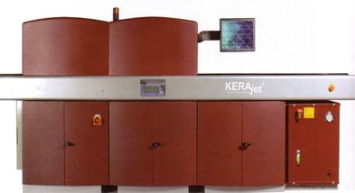 Ink jet tile decoration machine