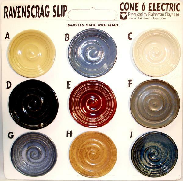Ravenscrag Cone 6 Glazes Sampleboard