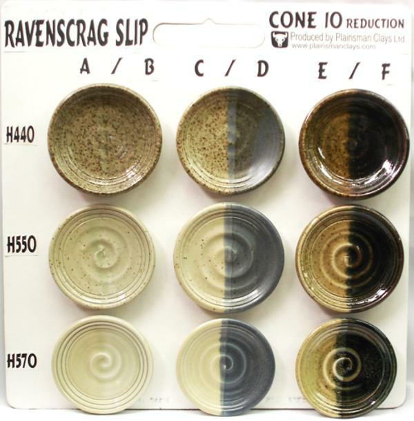 Ravenscrag Cone 10R Sample Board from Plainsman Clays