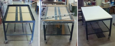 Make a super durable mobile plaster table