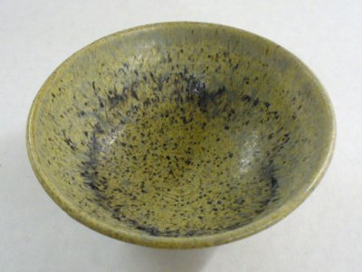 Wood ash glazed cone 6 bowl
