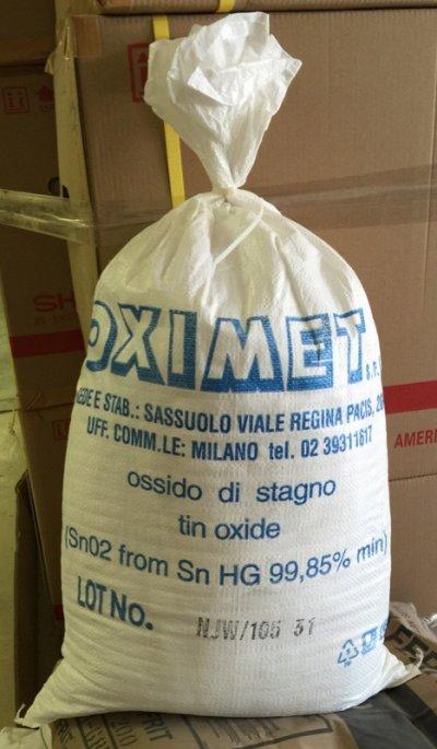 An original container bag of Tin Oxide