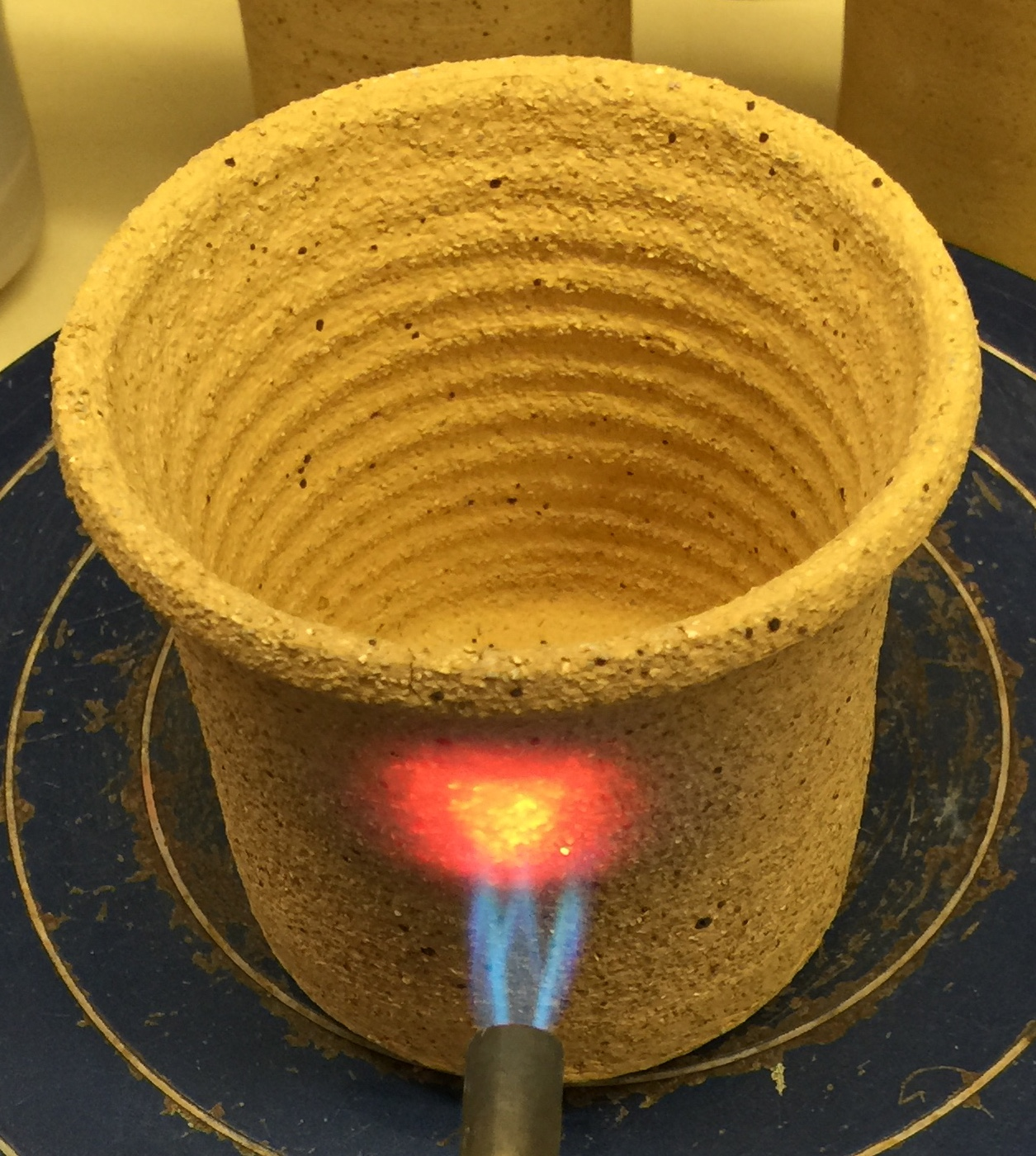 A flameware body being tested for thermal shock. Is this a joke?