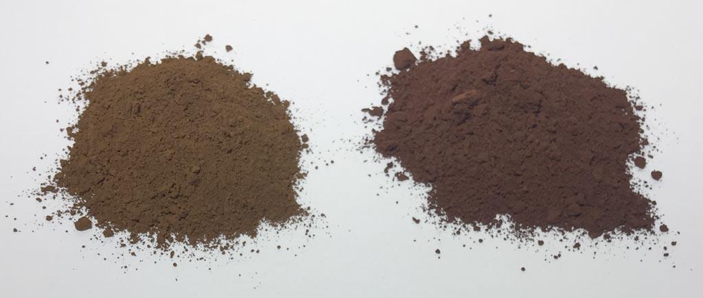 Raw Umber vs. Burnt Umber