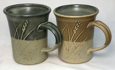Two mugs with silky matte glaze