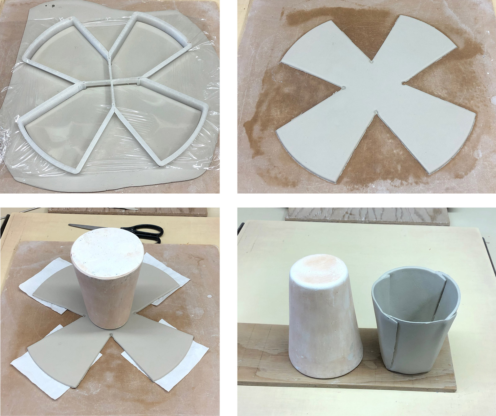 Large cookie-cutter 3D-printed in four pieces