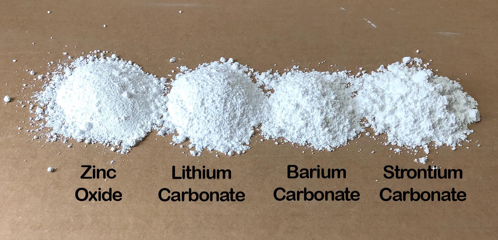 Frits instead of raw zinc, lithium, barium, strontium