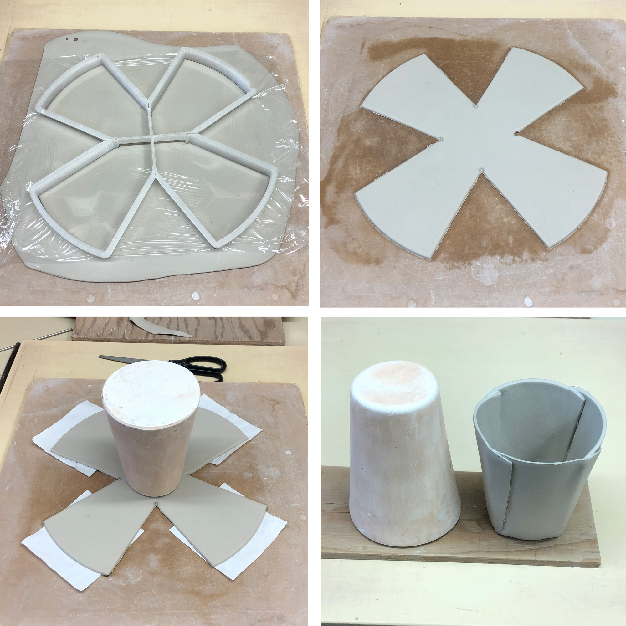 Forming the pie-crust mug
