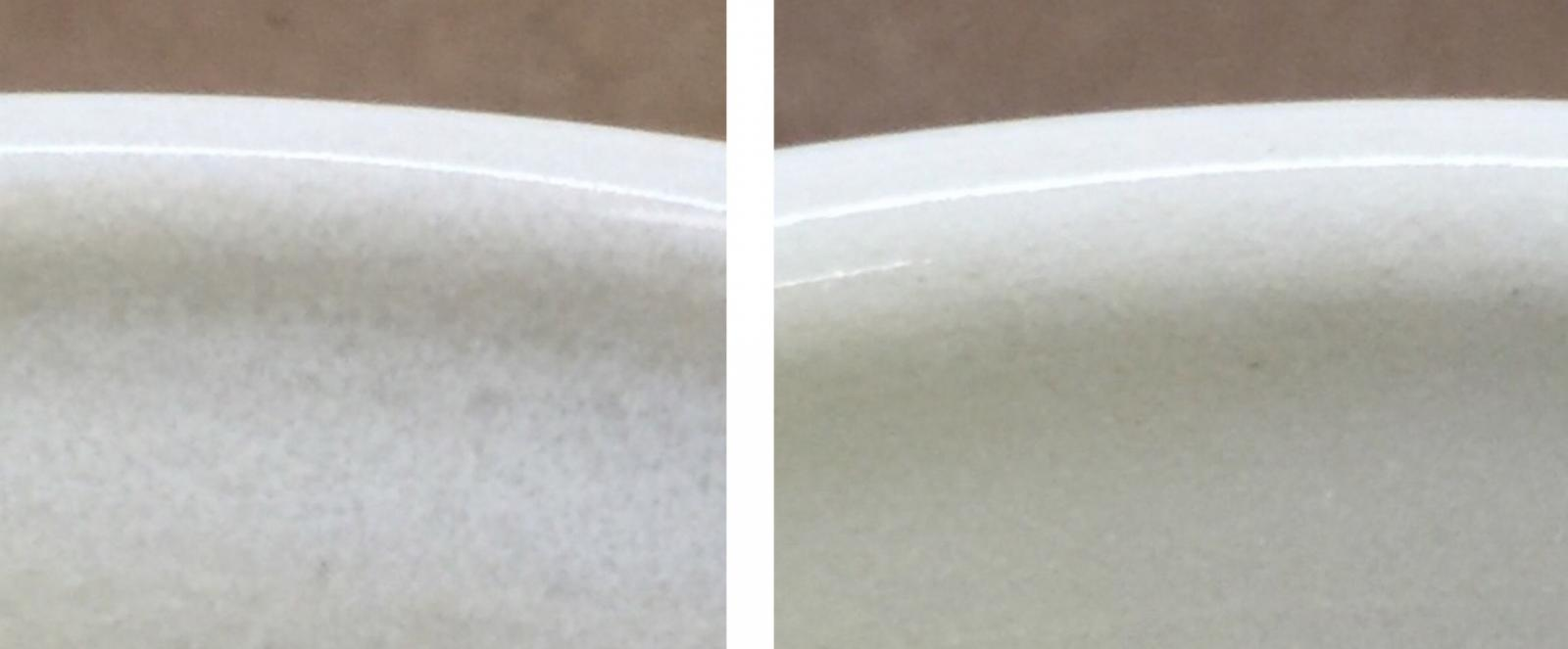 Slow cooling vs. fast cooling on a cone 6 transparent glaze
