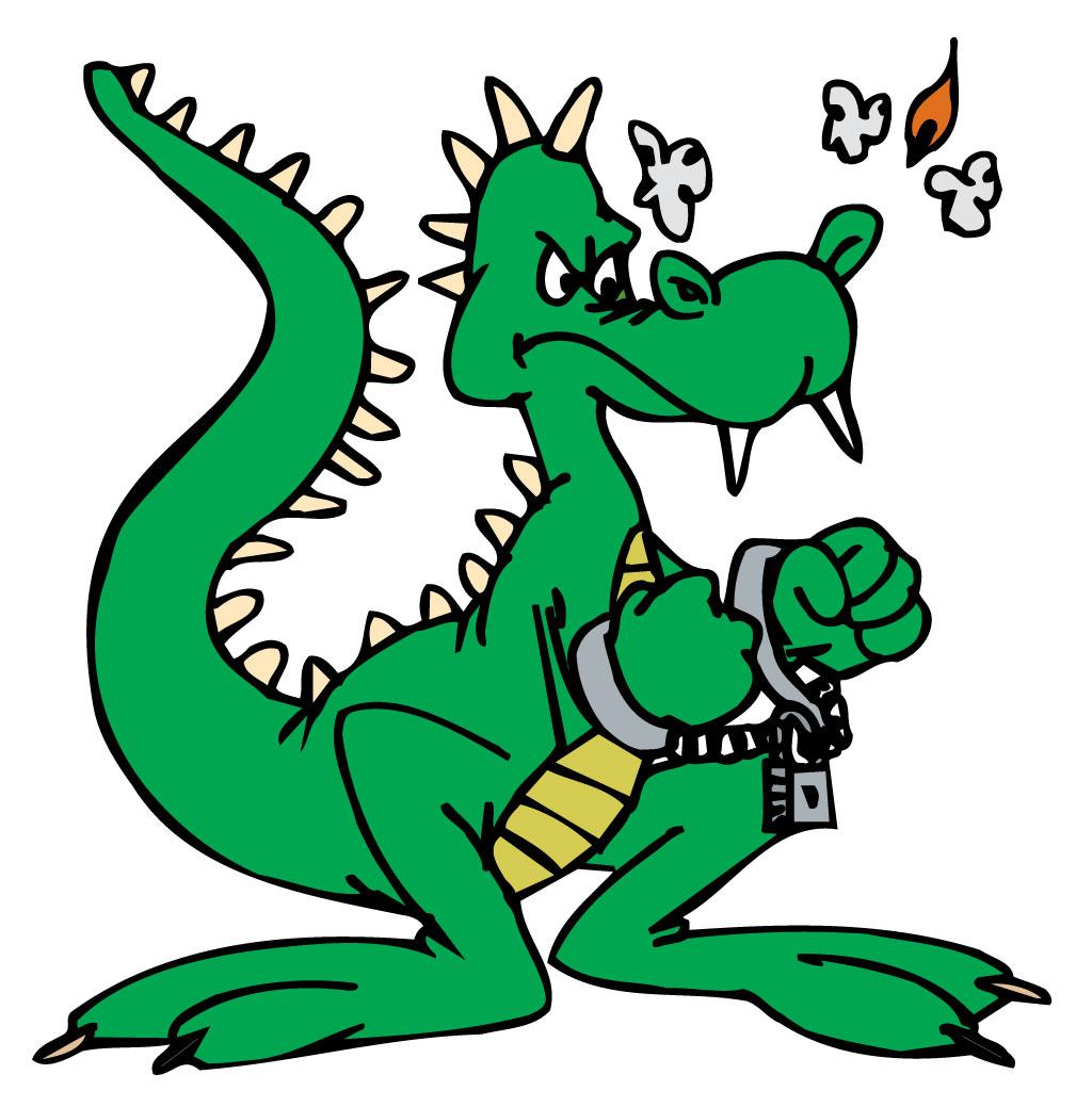 Handcuffed dragon