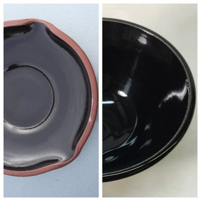 Glossy blacks are best made adding a black stain to a quality base transparent