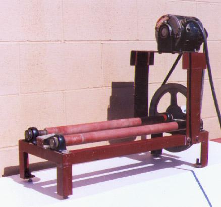 Ball mill rack legs and feet 2