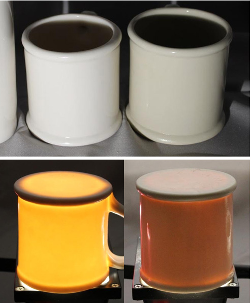 Translucency of Polar Ice compared to another porcelain at cone 6