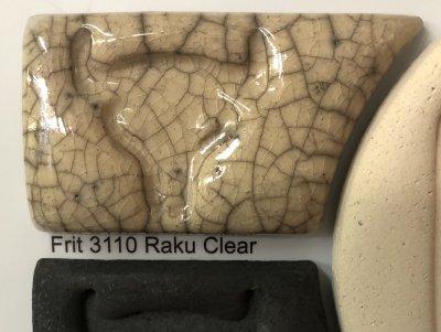 A glazed tile showing the raku crackle effect