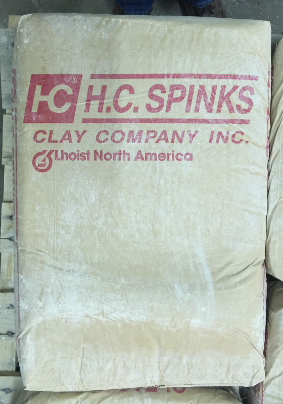 A bag of HC Spinks Ball Clay