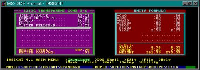 Digitalfire Insight 4.1 running on DOS cerca 1983
