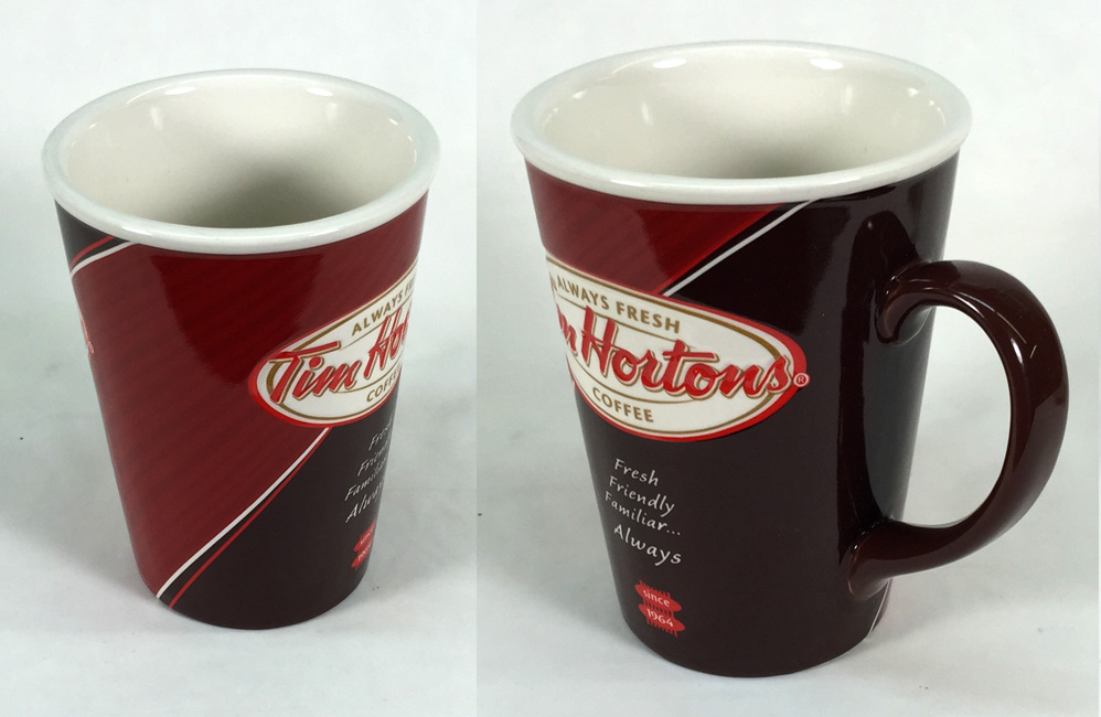 Beautifully finished mugs from Tim Hortons