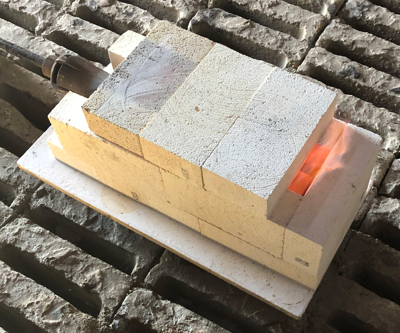 Temporary Raku Kiln