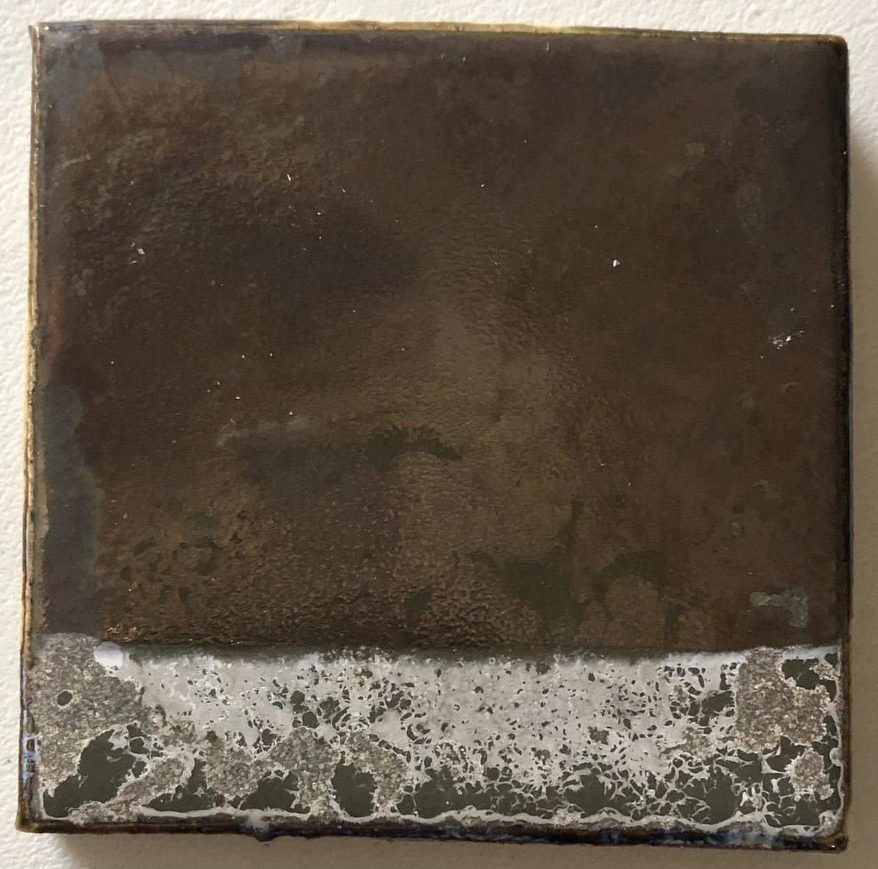 Metal saturated glaze after lemon test
