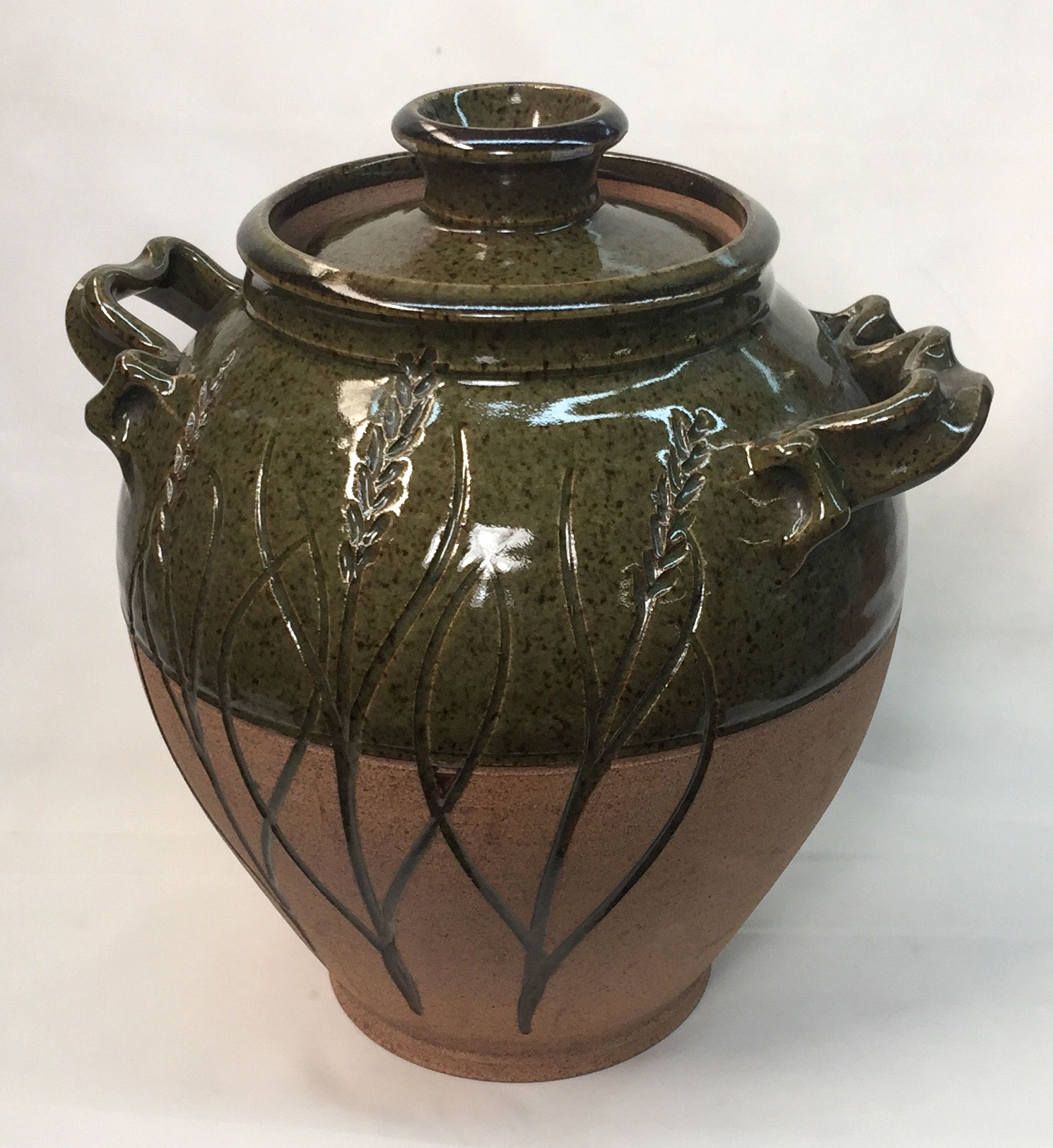 Cone 10 Reduction Fired Beanpot by Tony Hansen