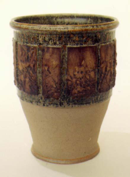 Cone 8 oxidation planter by Tony Hansen