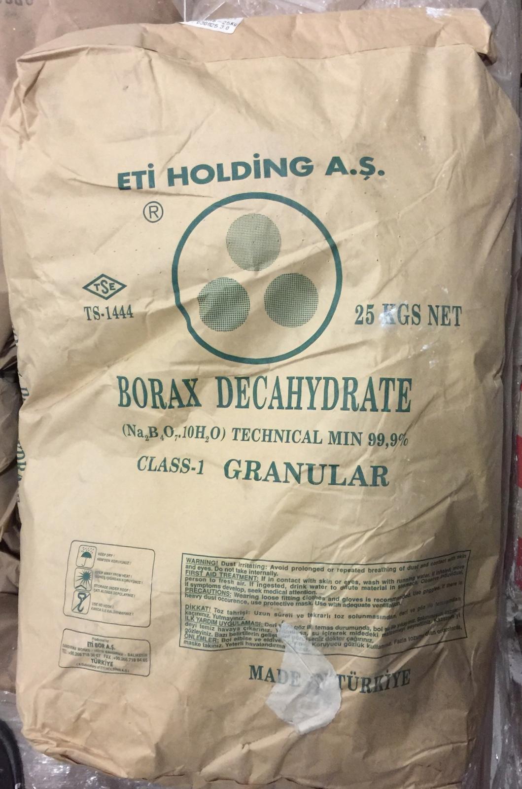 Original Container Bag of Borax Decahydrate