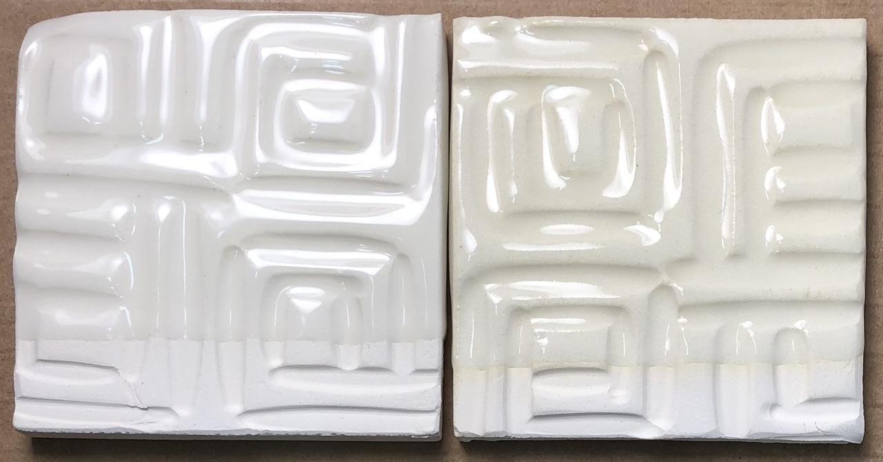 Two transparent liner glazed mugs