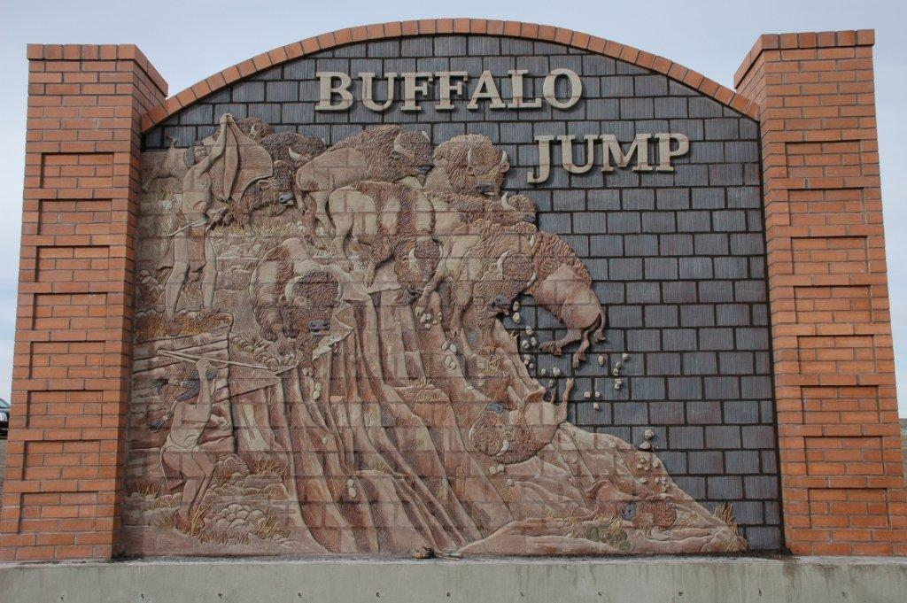 Jim Marshall mural at the Heads Smashed In Buffalo Jump