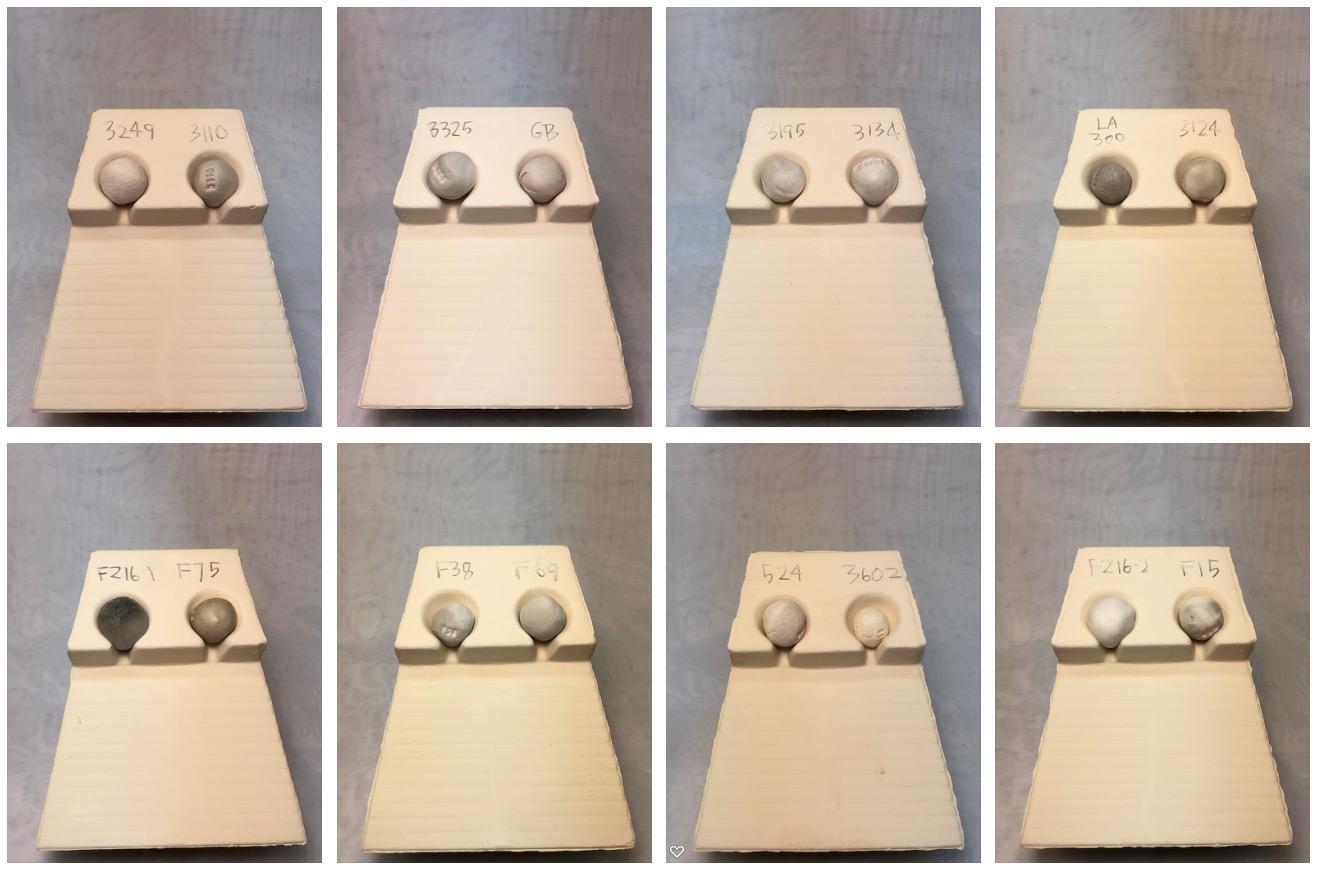 Frit melt fluidity comparison - 1300F