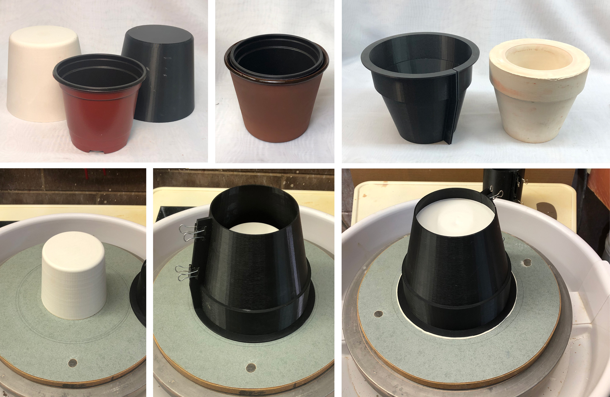 Easier way to make a plant pot mold via 3D printing